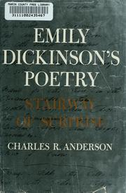 Emily Dickinson's poetry by Charles Roberts Anderson