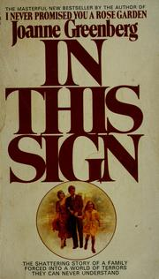 Cover of: In this sign | Joanne Greenberg