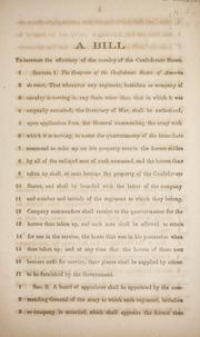 Cover of: A bill to increase the efficiency of the cavalry of the Confederate States | Confederate States of America. Congress. House of Representatives