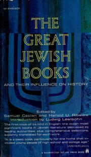 Cover of: The great Jewish books and their influence on history | Samuel Caplan