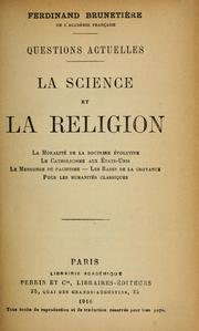 Cover of: La science et la religion | Ferdinand Brunetière