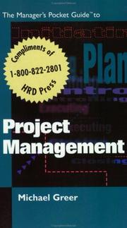 Cover of: The manager's pocket guide to project management