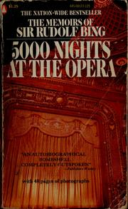Cover of: 5000 nights at the opera. | Bing, Rudolf Sir