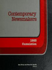 Cover of: Contemporary newsmakers | Ann Evory and Peter M. Gareffa