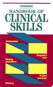 Cover of: Handbook of clinical skills