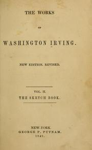 Cover of: The sketch book of Geoffrey Crayon | Washington Irving