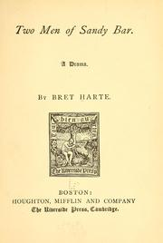 Cover of: Two men of Sandy Bar | Bret Harte