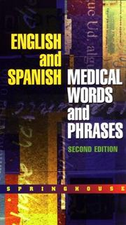 Cover of: English and Spanish Medical Words and Phrases