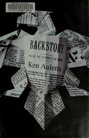 Cover of: Backstory | Ken Auletta