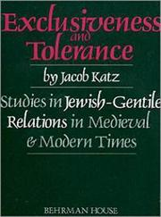 Cover of: Exclusiveness and tolerance