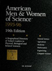 Cover of: American men & women of science, 1995-96 | R.R. Bowker Company
