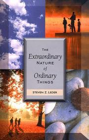 Cover of: The extraordinary nature of ordinary things
