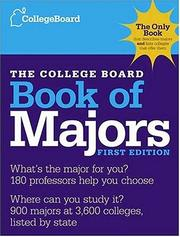 Cover of: The College Board Book of Majors | College Board