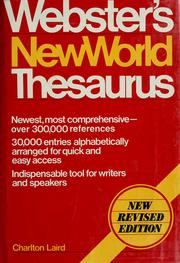Cover of: Webster's New World thesaurus | Charlton G. Laird, Charlton Grant Laird