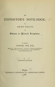 An expositors note-book