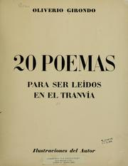 Cover of: 20 poemas para ser leídos en el tranvía by Oliverio Girondo