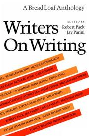 Cover of: Writers on writing |