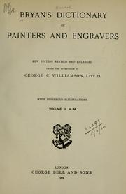 Cover of: Dictionary of painters and engravers | Michael Bryan