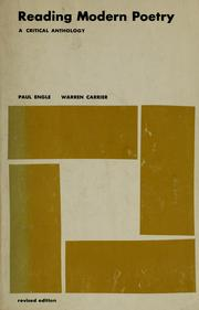 Cover of: Reading modern poetry | Paul Engle