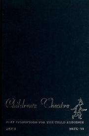 Cover of: Children's theatre | Jed H. Davis