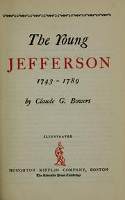 The young Jefferson, 1743-1789