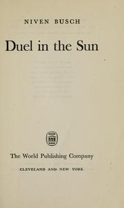 Cover of: Duel in the sun by Niven Busch