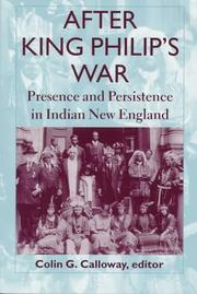 Cover of: After King Philip's War