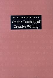 Cover of: On the teaching of creative writing: responses to a series of questions