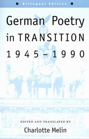 Cover of: German poetry in transition, 1945-1990 |