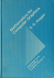 Cover of: Mathematics for computer graphics | S. G. Hoggar