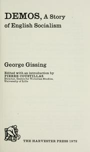 Cover of: Demos | George Gissing