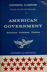 Cover of: American government by Peter H. Odegard