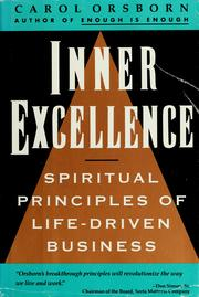 Inner Excellence by Carol Orsborn