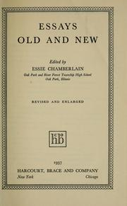 Cover of: Essays old and new | Essie Chamberlain