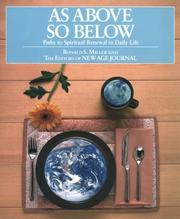 Cover of: As above, so below | Ronald S. Miller
