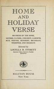 Cover of: Home and holiday verse | Louella D. Everett