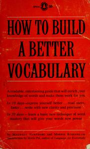Cover of: How to build a better vocabulary by Maxwell W. Nurnberg