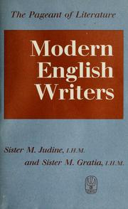 Cover of: Modern English writers | Sister Judine