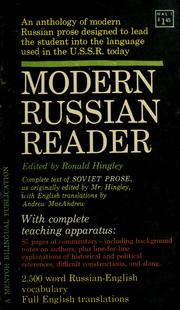Cover of: Modern Russian reader | Ronald Hingley