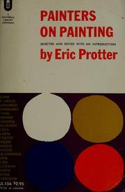 Cover of: Painters on painting. | Eric Protter