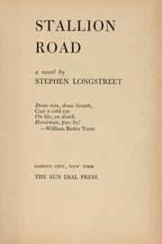 Cover of: Stallion road | Stephen Longstreet