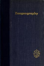 Cover of: Zoogeography. |