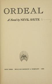 Cover of: Ordeal | Nevil Shute