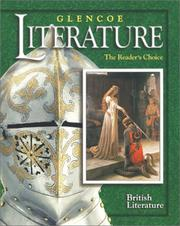 Cover of: Glencoe Literature © 2002 Course 7, Grade 12 British Literature  | McGraw-Hill