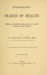 Cover of: Wanderings in search of health | H. Coupland Taylor