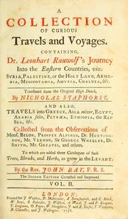 Cover of: Travels through the Low countries | John Ray