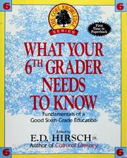 Cover of: What your sixth grader needs to know |