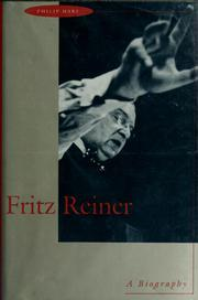 Cover of: Fritz Reiner | Philip Hart