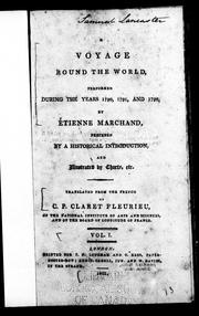 Cover of: A voyage round the world performed during the years 1790, 1791, and 1792, by Etienne Marchand | Fleurieu, C. P. Claret comte de