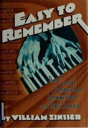 Cover of: Easy to remember | William Zinsser
